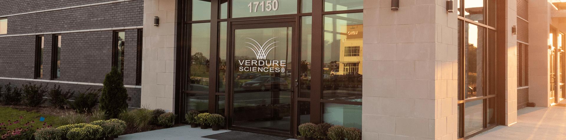 Verdure Sciences front door in Noblesville Indiana