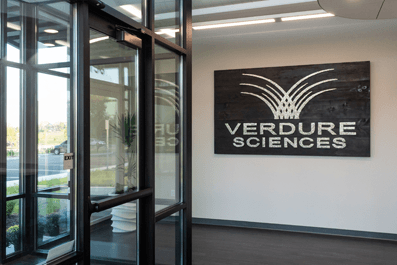 Verdure Sciences® Headquarter Entrance With Nail Board