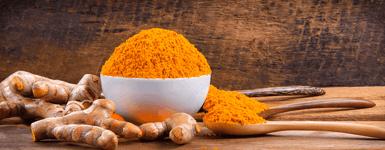 Curcuma longa powder and roots